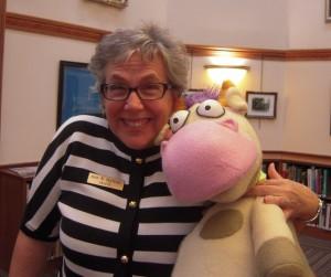 Ann Hutton with Cow 2015-09